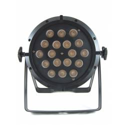 LED FLAT PAR 18x10W RGBW 4in1 Floor front