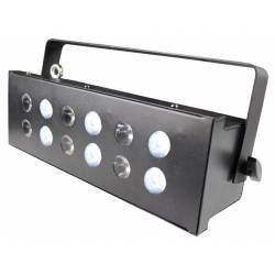 IBIZA STROBE12.3LED 5/6-KANAAL DMX LED STROBOSCOOP / WASH