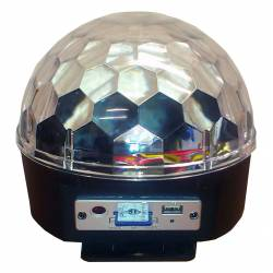 Flash LED LICHT EFFECT MAGIC BALL MP3 SD CARD USB