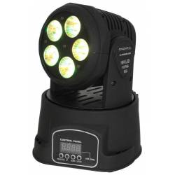 Ibiza LED Mini Moving Head 5X18W 6in1 RGBWA+UV