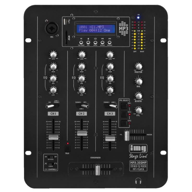 DJ-Mixer met MP3-Player Stageline MPX-30DMP
