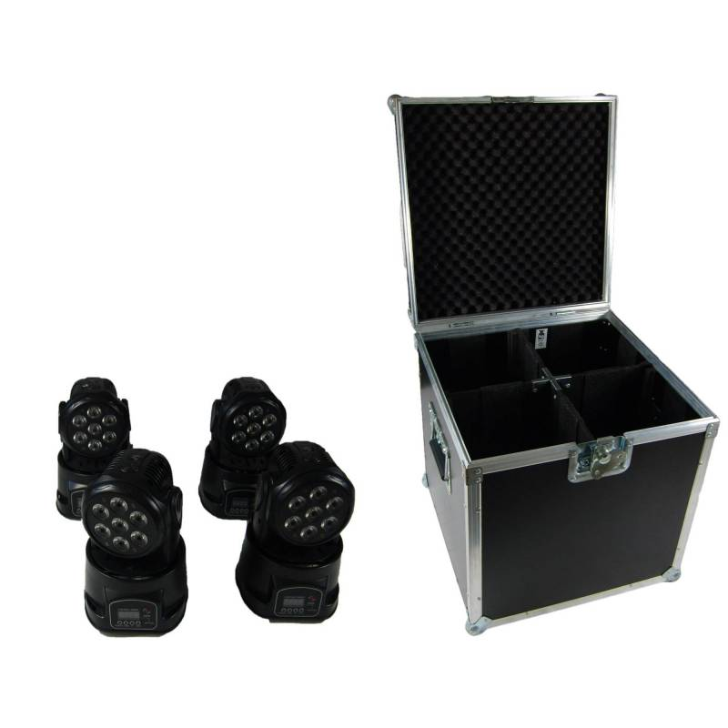 4x flash 7x10 moving head in case