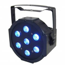 LED Flat Par 7x10W 4in1 Blauw