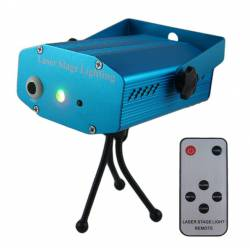 Flash mini laser met gobo en afstands bedienning